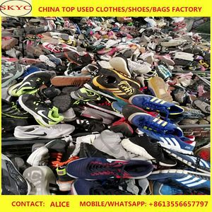 HongKong Wholesale High Grade Second Hand Men Sports Shoes Manufacturer Supply Mixed Cheap Used Shoes