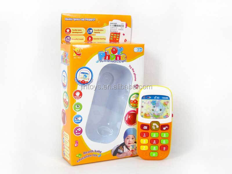 New baby toy phone plastic mini musical kids mobile phone toy