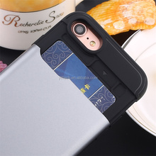 Top quality card holder slide slot dissipate heat mobile phone cover for iphone 6 plus 6s plus