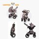 China factory cheap price inflatable big wheel 3 in 1 see baby pram stroller carrycot carseat high landscape pushchairs