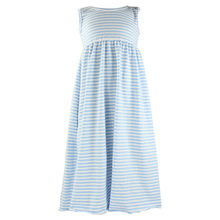 2017 latest design wholesale baby girls fashion dress cotton stripe baby girls dress maxi dresses