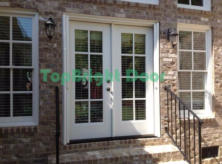 2017 New Design Double Glass Exterior Aluminium Out Swing Commercial Steel French Doors Buy