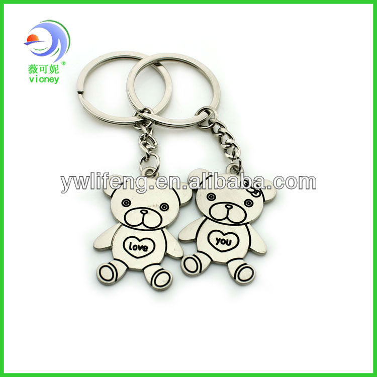 Promotion Couple key chain with lovers name&date