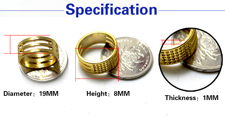 Factory direct sell Protect your fingers Copper thimble ring