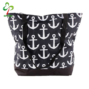 Nylon Anchor Printed Beach Bag Tote