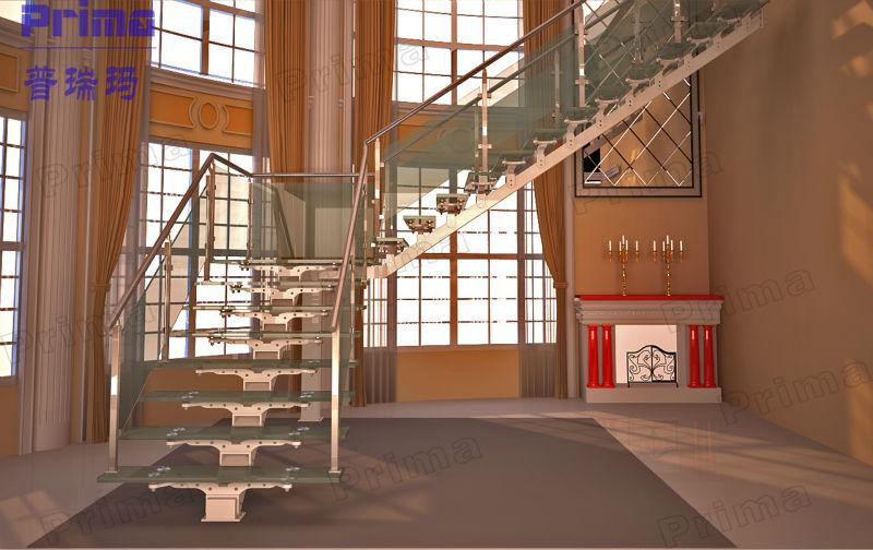elegante prefabricados de metal outdoor escaleras