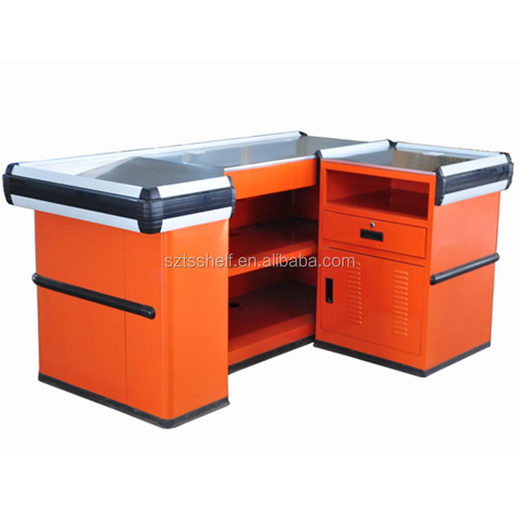 Wholesale multifunctional supermarket checkout counter and cash desk/retail store