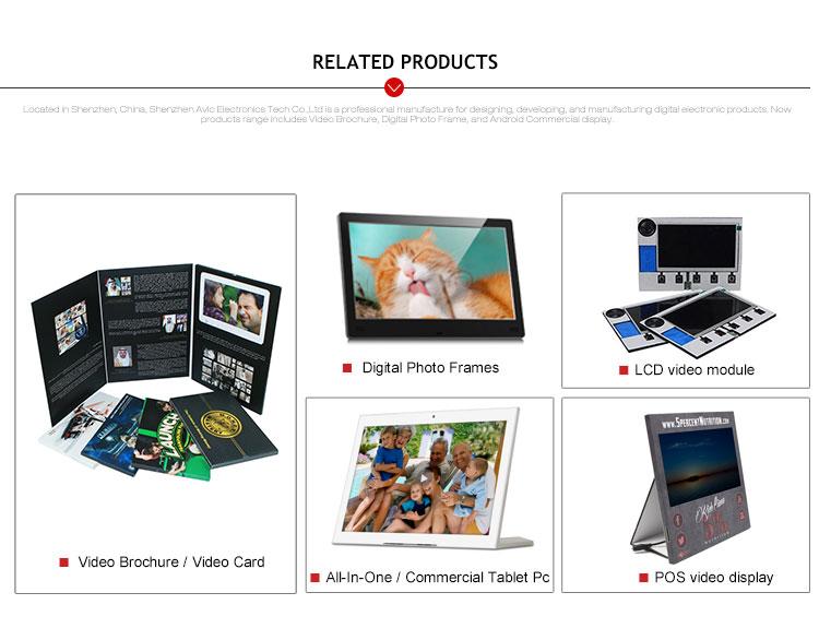 2020 नवीनतम डाउनलोड मुफ्त Mp3 Mp4 आईपीएस 10 इंच दीवार माउंट इलेक्ट्रिक डिजिटल फोटो फ्रेम