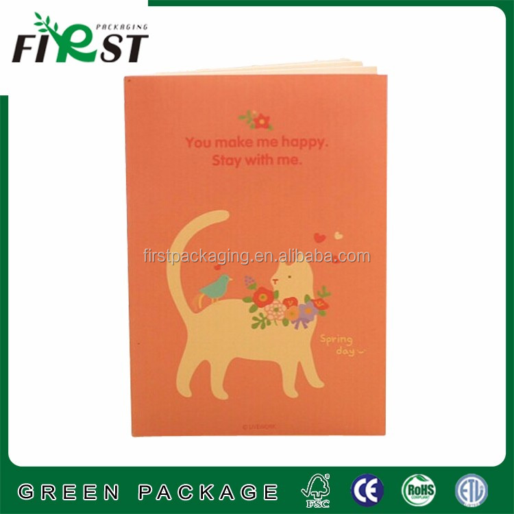 2016 Hot Sale Custom square Little cute animal note pad/small notebook ,notepad