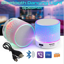 A9 HI-FI Stereo LED Light Portable Crack Mini Waterproof Wireless Bosed BLE Speaker