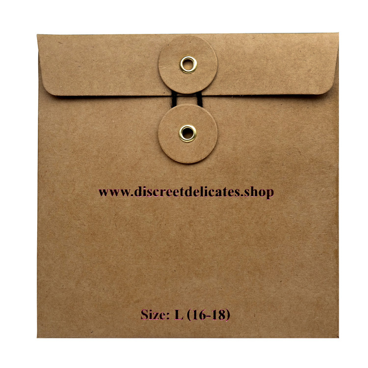 Custom rose gold foil logo square craft paper packaging kraft envelopes with a round window