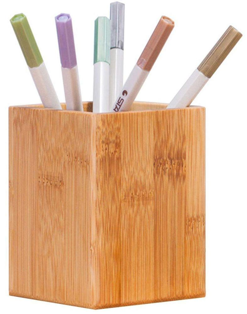 Bamboe Hout Desktop Pen Potlood Holder
