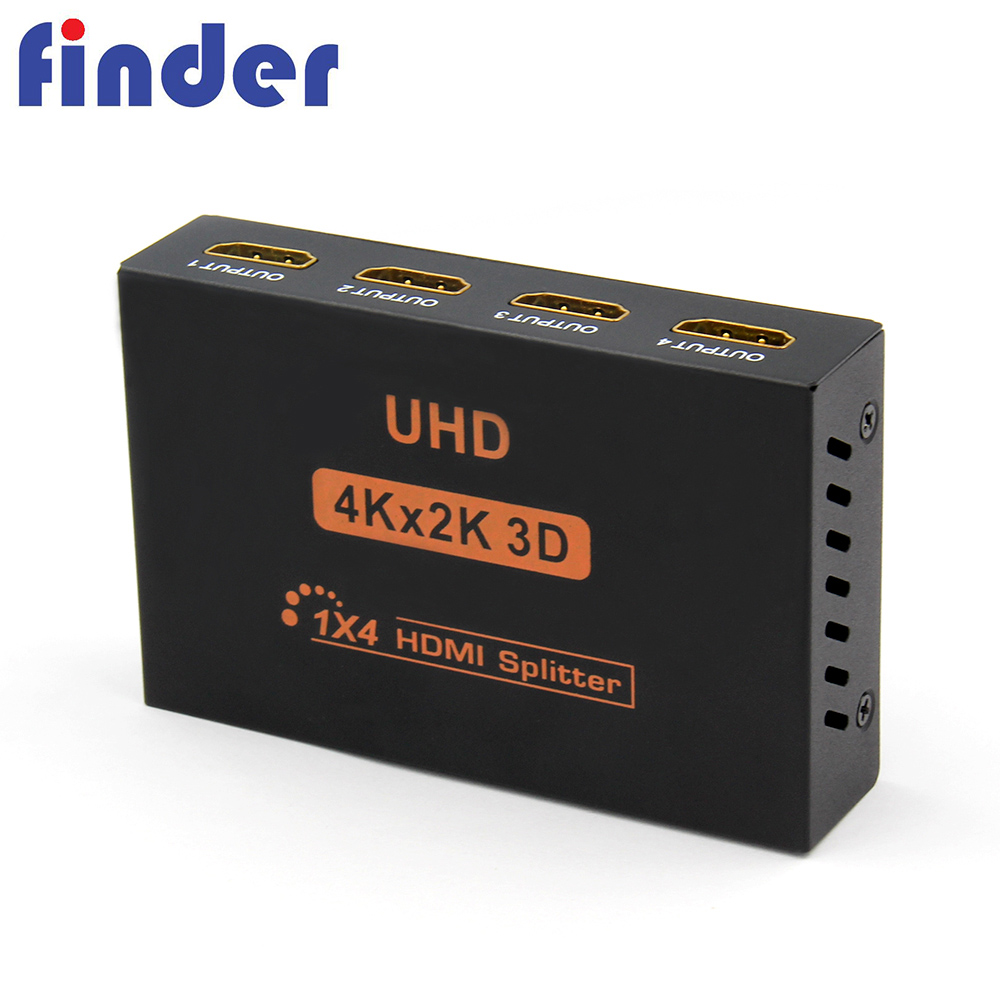 HDMI 4 Port 1x4 Powered Splitter V1.4 için Sertifikalı Ultra HD 4 K x 2 K Full HD 1080 P 3D hdmi adaptörü