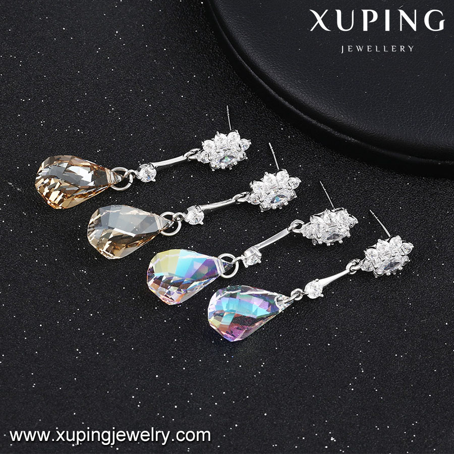 92511-wholesale silver color jewelry Crystals from Swarovski, indian long stud earrings