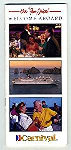 Carnival Cruise Lines Welcome Aboard Booklet 1995