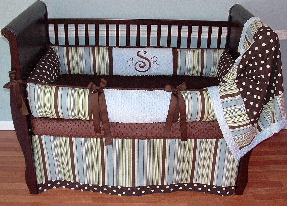 Modpeapod City Boy Stripes & Dots Breathable Baby Bedding Set