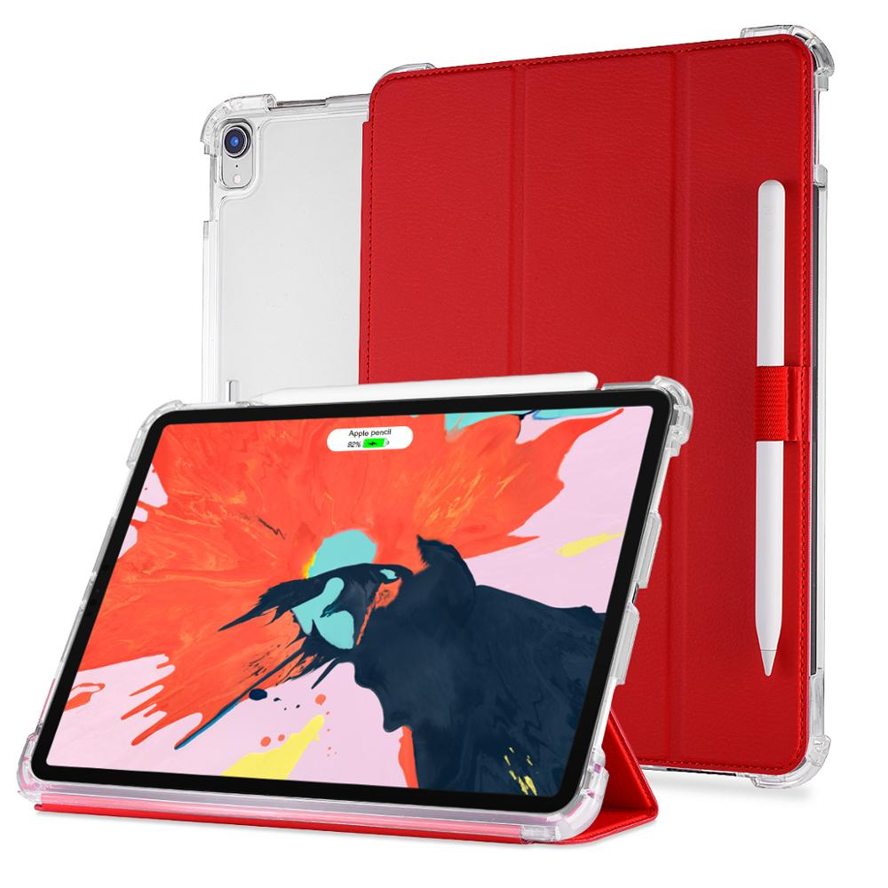 smart leather stand case for <strong>ipad</strong> tablet, TPU shockproof case for 2018 <strong>ipad</strong> pro 11 inch and <strong>ipad</strong> pro 12.9 inch
