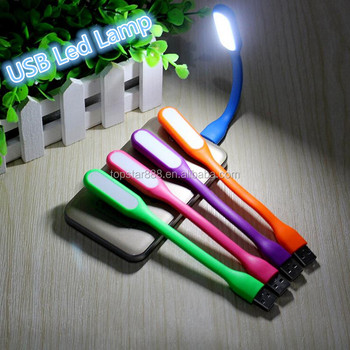 Original USB Led Bedside Reading Mini Lamp Used For Xiaomi Power Bank And  Laptop Computer Adjustable