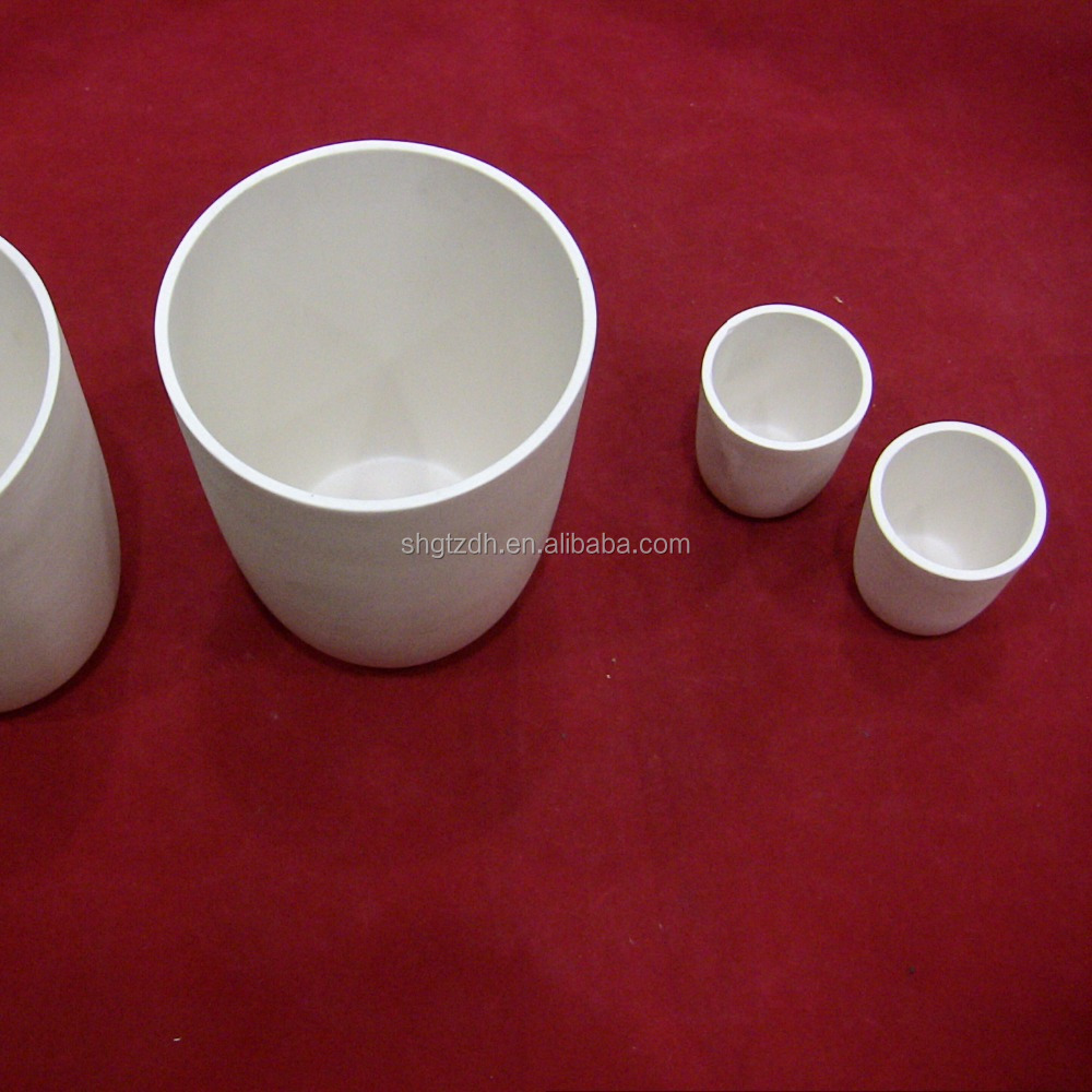 Factory price high purity zirconia melting ceramic crucible for high temperature furnace and crystal pulling tool