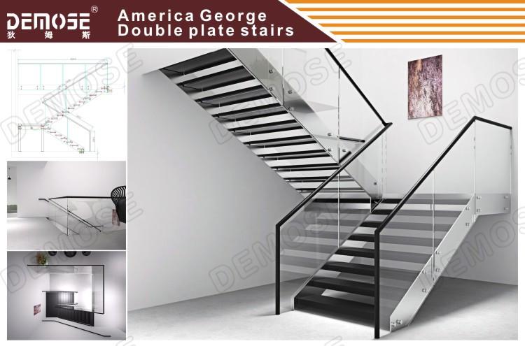 Vidrio templado modelos de escaleras para segundo piso for Modelos de escaleras exteriores