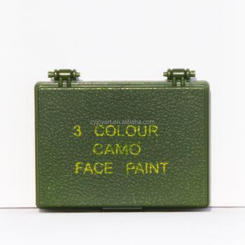 3 Renk Kamuflaj Yüz Boya Hipoalerjenik Paraben ücretsiz Askeri