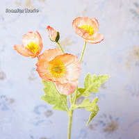 Home Decoration Flower Simulation Silk Small Poppy Flowers Artificial Decorative Silk Artificial Poppy Flower