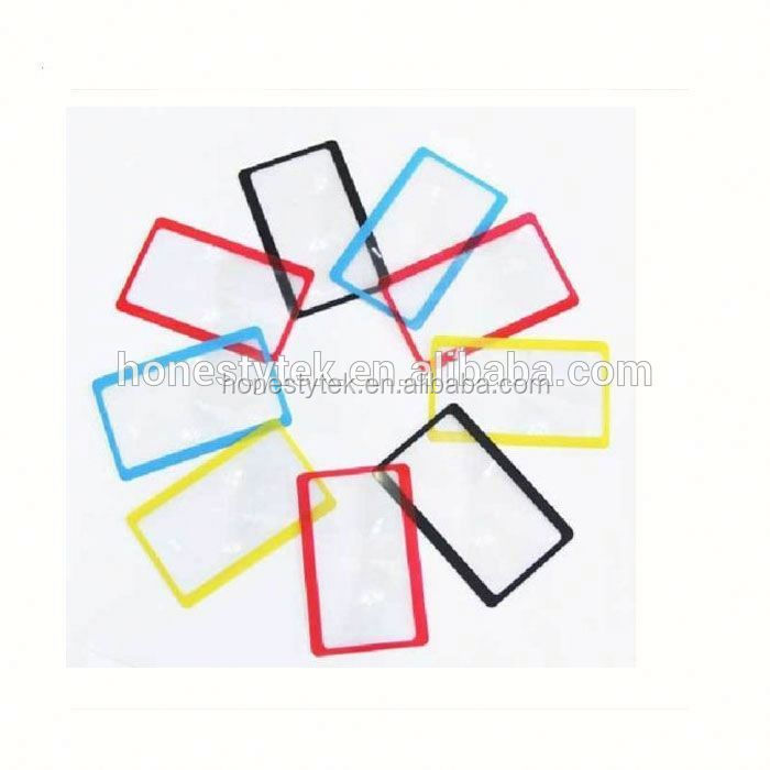 E122 Promotional name magnifier card for logo