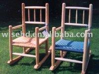 (W-G-C1053) solid wood kid rocking chair