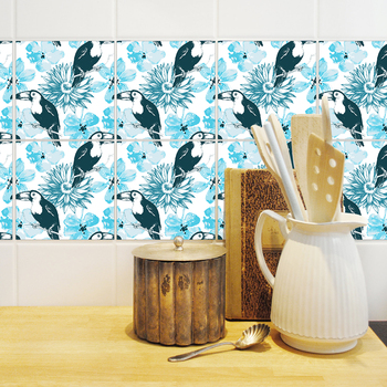 diy home printing customized wall stickers pvc decor tile stickers