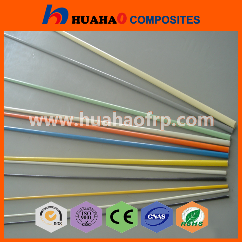 "Hot Selling Rich Color UV Resistant fiberglass rods 1/2"" with low price fiberglass rods 1/2"" fast delivery"