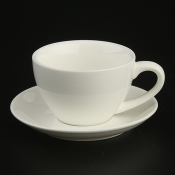 Wholesale Plain White Logo Decal Custom Coffee And Tea Cup And Saucer Set Manufacturers In China Originally