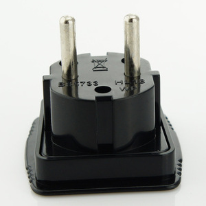 UK to European/German/Schuko/France converter plug 250V-16Atravel adapter with 4.0mm/4.8mm pin
