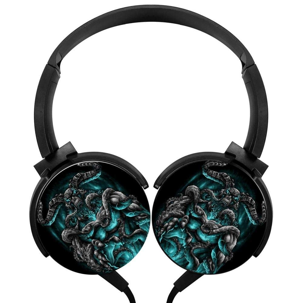 Xerjij Demon Wallpapers Wired Stereo Headset fashion Bass Headphones for Computers Mobile Devices