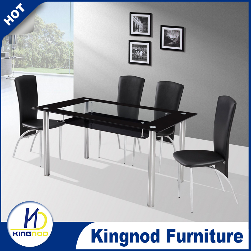 Fiber Dining Table Set 4 Seater Glass Design Modern Room Furniture And