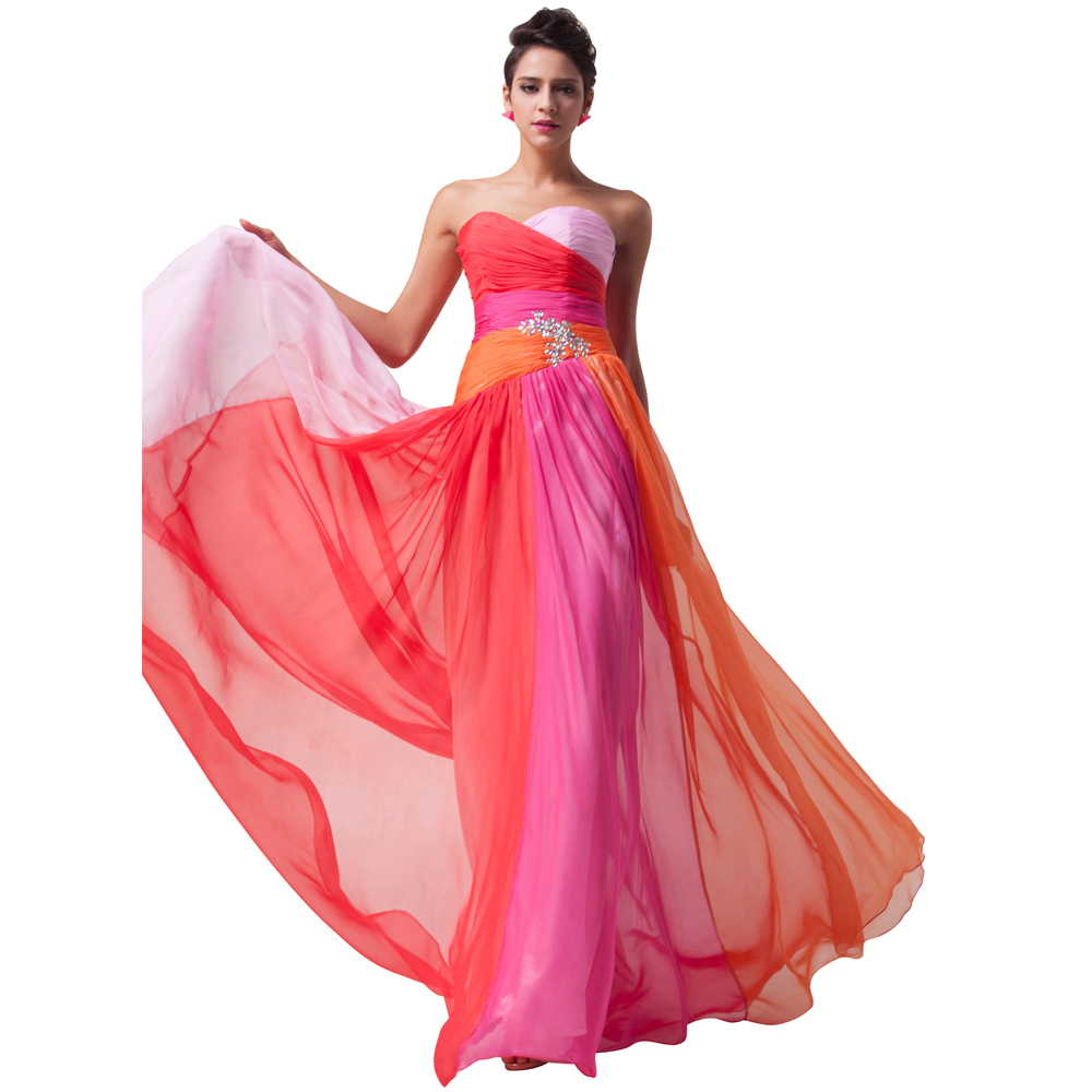 5c9b7db94a8a1 Get Quotations · New Offer Plus Size Beautiful Prom Dresses Blue Red  Sweetheart Dance Chiffon Long Party Dress For