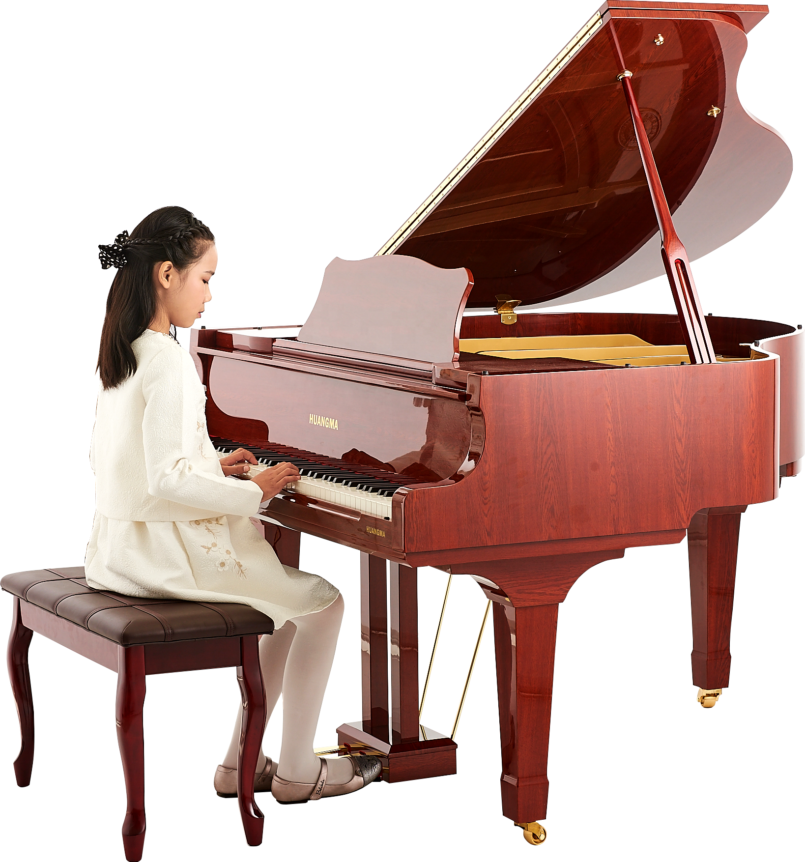 Factory Outlet New 6 feet depth 88 keys White Digital Grand Self Player Piano