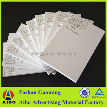 Non Pollution White Self Adhesive Mounting Board Polyethylene Foam