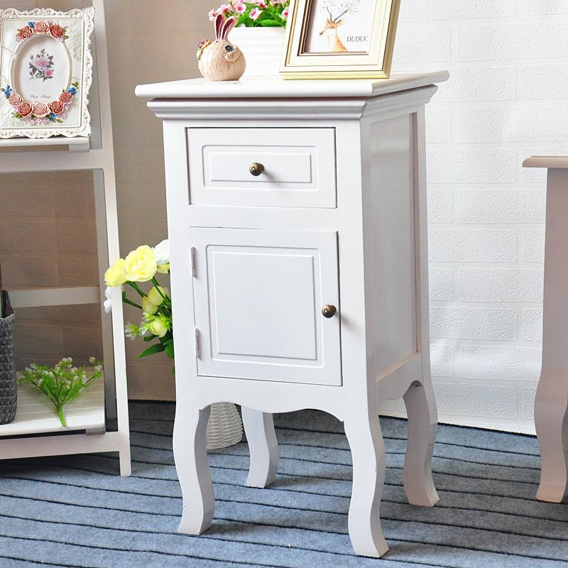 Moderno diseño blanco mesa de noche de madera bedstand con un cajón ...
