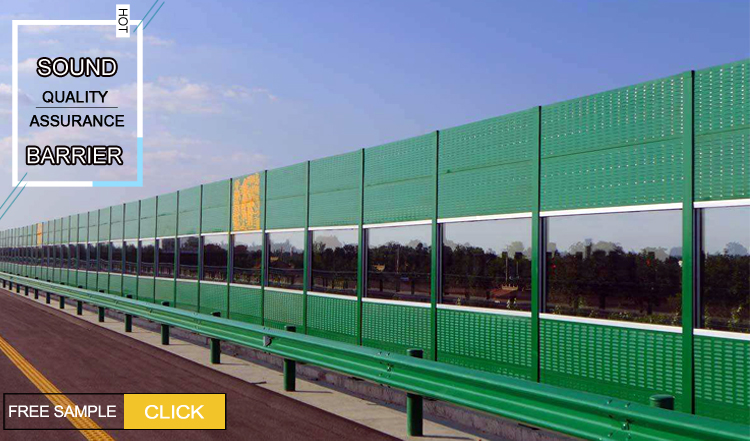 Highway Sound Barrier Wall Noise Barrier Acrylic Sheet/uae