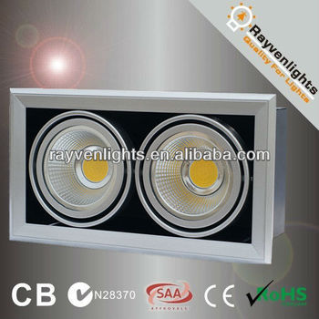 High Lumen 30w Double Gimbal Led Grille Lighting