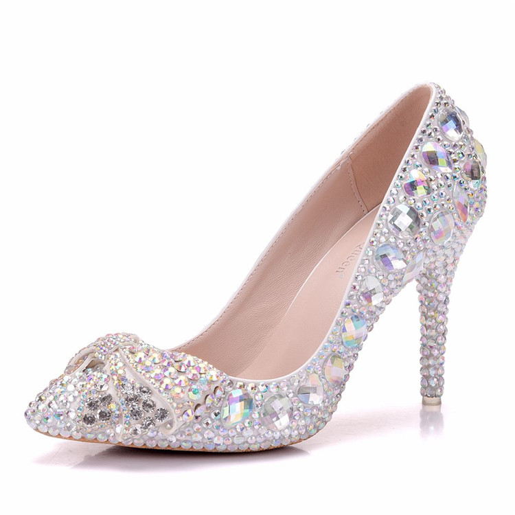 Women rhinestone Pumps Sexy high heels shoes
