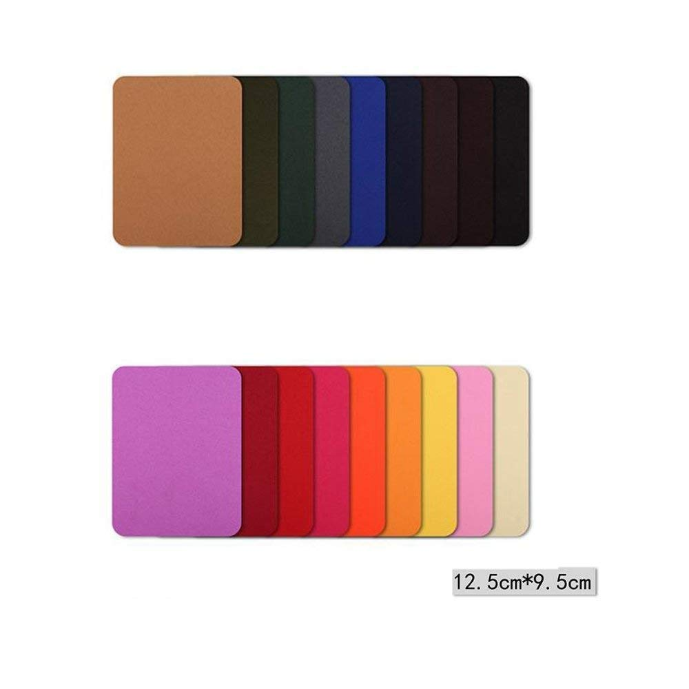 PRALB Colorful Iron On Denim Patches for Jean Clothing 36 Pieces No-Sew Denim Patches Assorted Cotton Jeans Repair Kit by POAO, 2 Pcs per Colors, 18 Assorted Colors, 3.7 x 4.7 inches