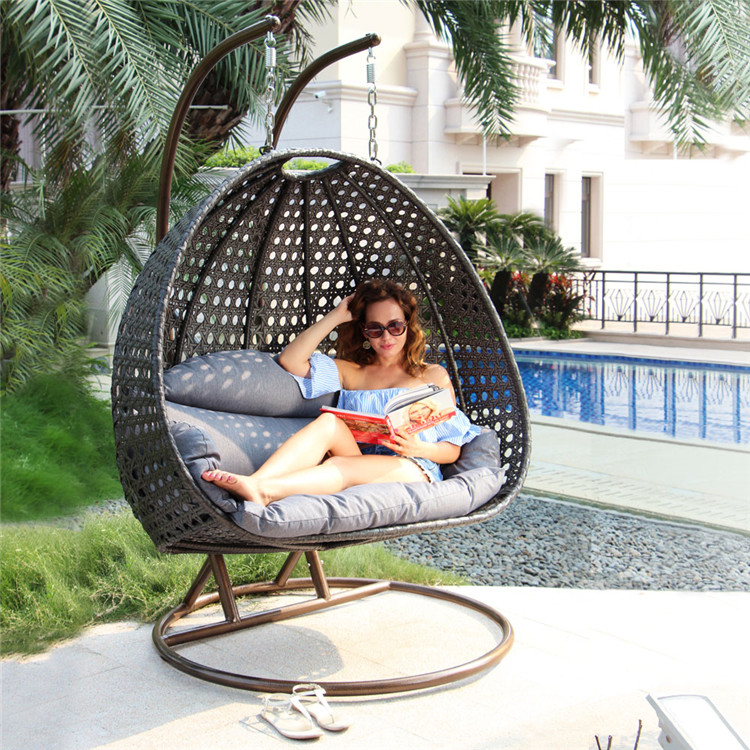 hanging indoor swing chair with canopy