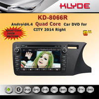 klyde 2 din touch screen android car dvd gps / audio / radio / stereo / multimedia with review reversing cam for honda city 2014