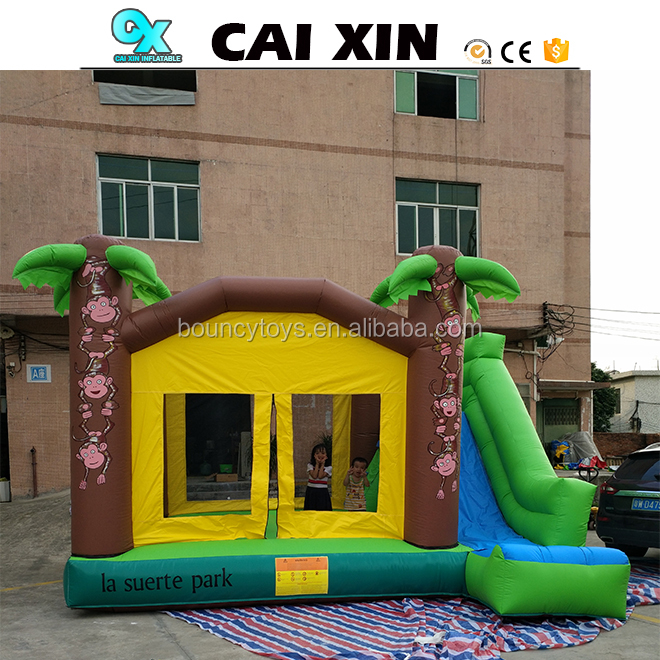 Factory direct sell good price nice quality inflatable bouncer castle with slide customized inflatable