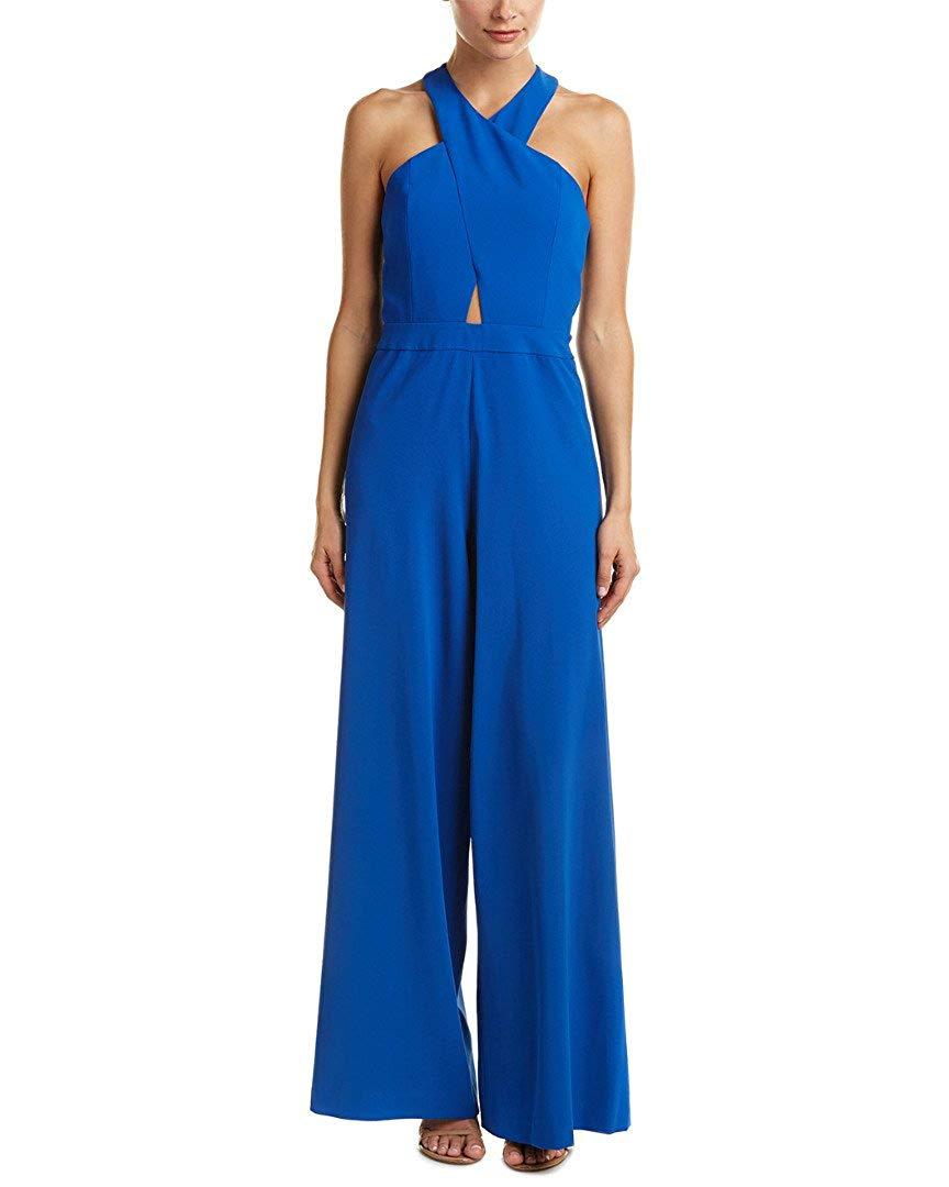 alice + olivia Womens Trinity Jumpsuit, 2, Blue