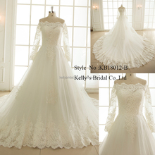 New Style European Fashionable Sweetheart Neckline Off Shoulderexpensive Lace Wedding Dress Bridal Gown