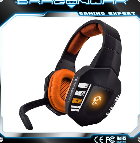 Worldwide Free Samples Optical Fiber Wireless Gaming Headset for PS4