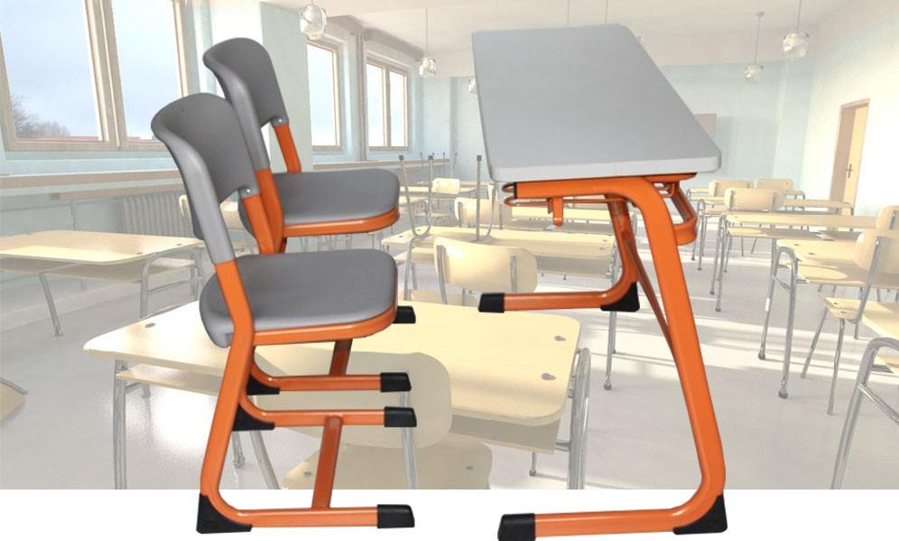 India Kids Study Table And Chair 2 Seaters Library