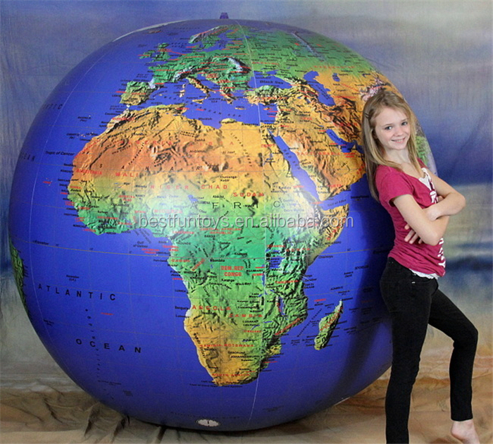 Political Inflatable World Globes Inflatable Large Plastic